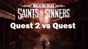 COMPARACIÓN GRAFÍCA DE THEWALKING DEAD SAINTS & SINNERS QUEST 2 VS QUEST 1
