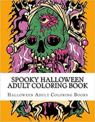 Spooky Halloween libro para colorear