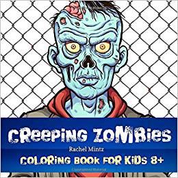Creeping Zombies Libro para colorear  niños