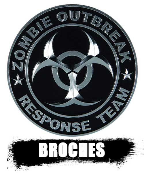 BROCHES y pines de zombies top shop 2020. información real de los zombies.