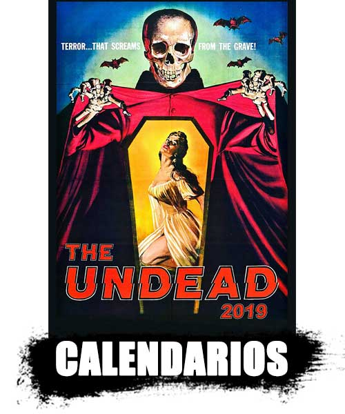 CALENDARIOS de zombies para pared decoración top shop 2020. información de zombies reales.