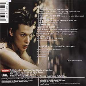 """""""Resident Evil"""" Película Título principal Theme de Marilyn Manson. ocupa la novena posición dentro del top 10 de música de zombies."""