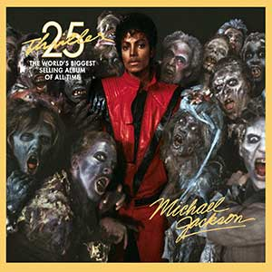 """""""Thriller"""" de Michael Jackson. ocupa la décima posición dentro del top 10 de música de zombies."""