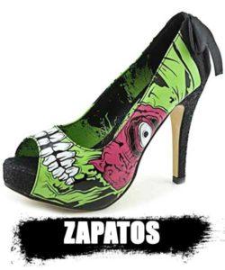 ZAPATOS de zombies colección top shop 2020. información cultura zombie.