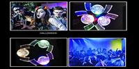 iluminación para fiestas de terror zombie. decoración perfecta con luces para crear ambientes apocalípticos