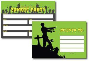 invitación para fiestas de terror zombie. descubre todos los articulos y arma tu fiesta apocaliptica