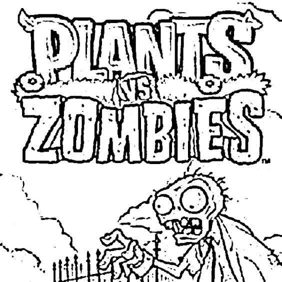 Dibujos de zombies divertidos para colorear plants vs zombies